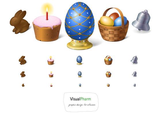Happy Easter! Icon Set