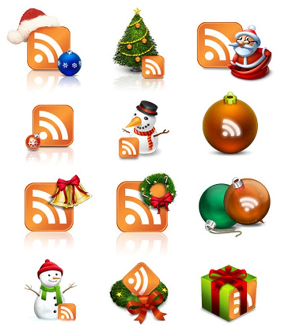 X-Mas RSS Icons