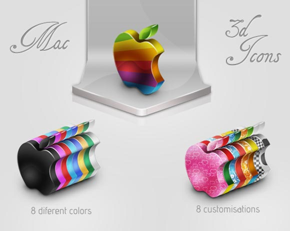 Mac 3d Icon Set
