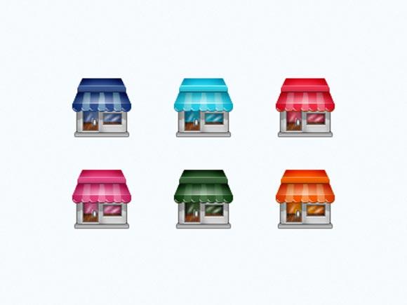 Pixel Social Store Icon Set