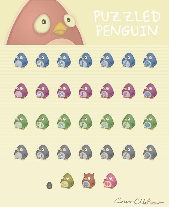 Puzzled Penguin by Corvocollorosso