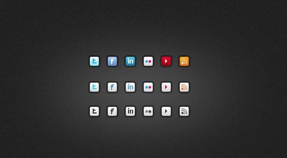 Small Social Icons