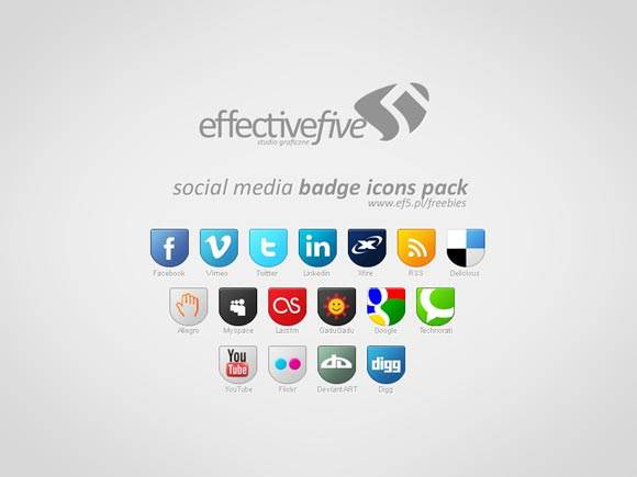 Social Media Badge Icons