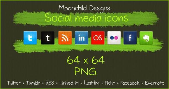 Social Media Icon Set by Lilmoonchild1