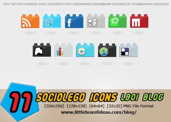 SocioLEGO A Free Social Icon Set