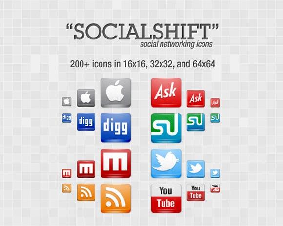 """SocialShift"" Icon Set"