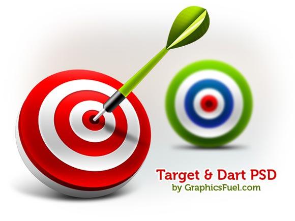 3D Target & Dart Icons