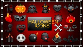 Vector Halloween Icons by Vectorlady