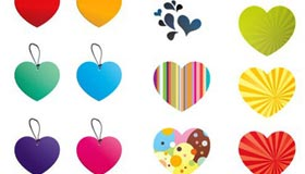 25 Free Vector Hearts