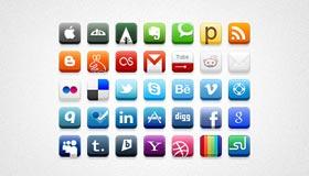 32px Social Media Icons