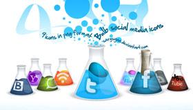 Bulb Social Media Icons by Sargsyan