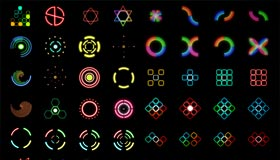 Neon light icon set by Zen-nikki