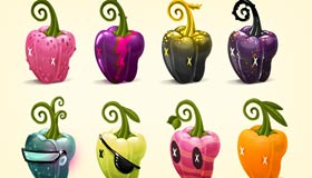 Peppers Icons by Kluke