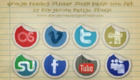 Grunge Peeling Stickers