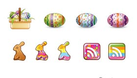 Easter Bunny Icons