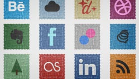 Fabric Social Icon Set