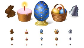 Happy Easter! Icon Set