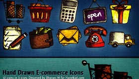 Hand-drawn E-Commerce Icon Set