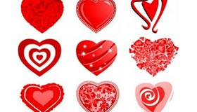 50 Love Heart Vectors