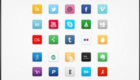 Mini Social Icon Set
