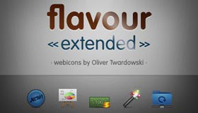 Flavour Icon Set for Web Designers