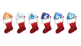 Free Holiday Social Media Icon Set
