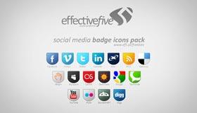 Social Media Badge Icons