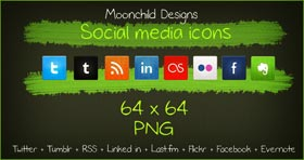 Social Media Icon Set by Lilmoonchild1