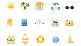 Summer Holiday Icon Set