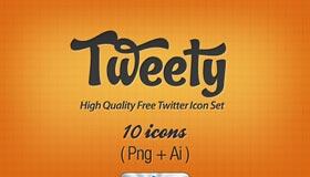 """Tweety"" High Quality Twitter Icon Set"