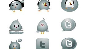 Chrome Twitter Icons