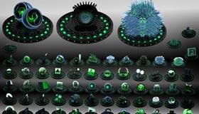 Black and Green Icon Set by Xylomon