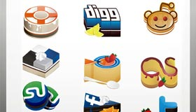 Yammy Social Media Icons Set