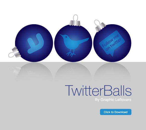 Free Twitter Balls Holiday Icons
