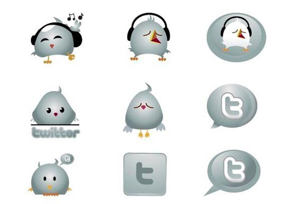 Chrome Twitter Icons