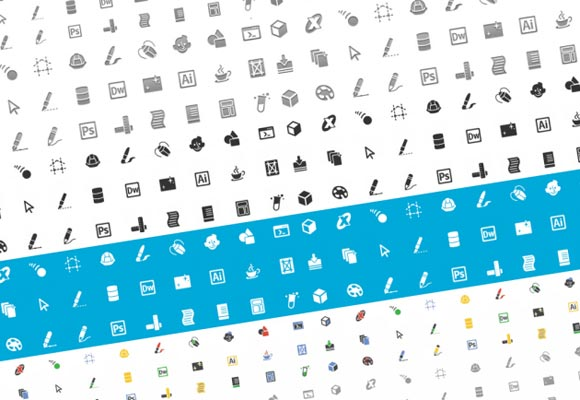 New Designers and Developers Icon Set